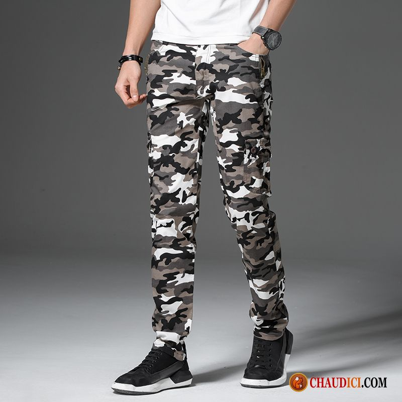 fe6a79cf06c Pantalon Velours Homme Homme Cargo Extensible Slim Tendance Pas Cher
