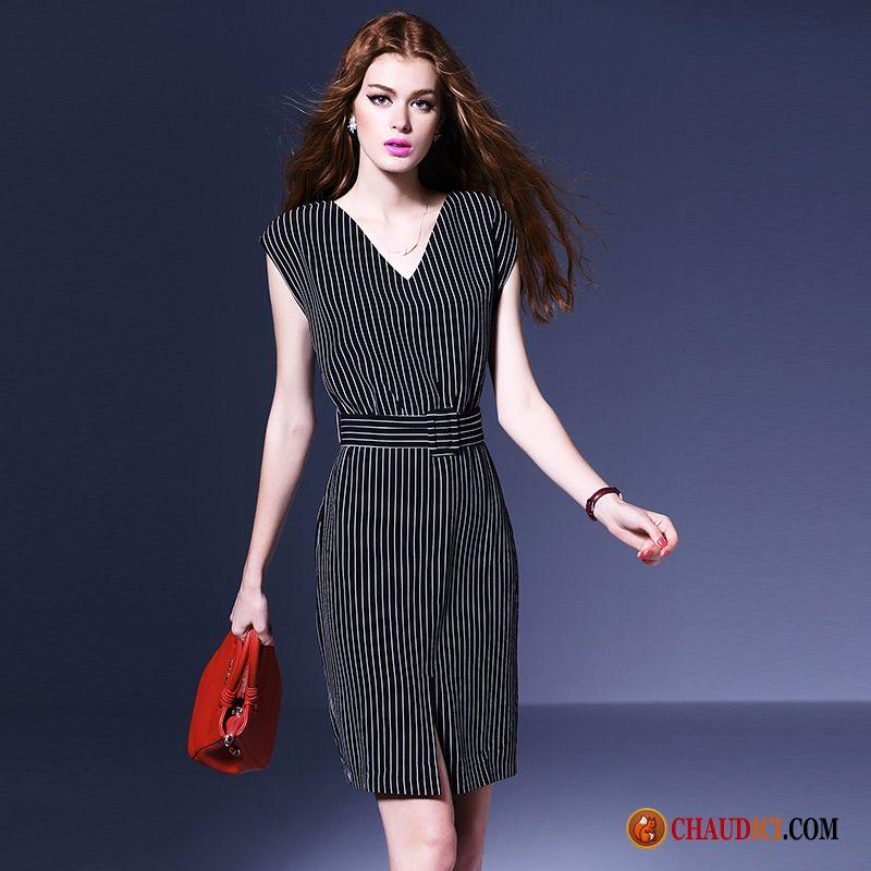 1cdae2fd805 Robe Classe Femme Bordeaux Yarn Mode Tempérament Professionnel Slim