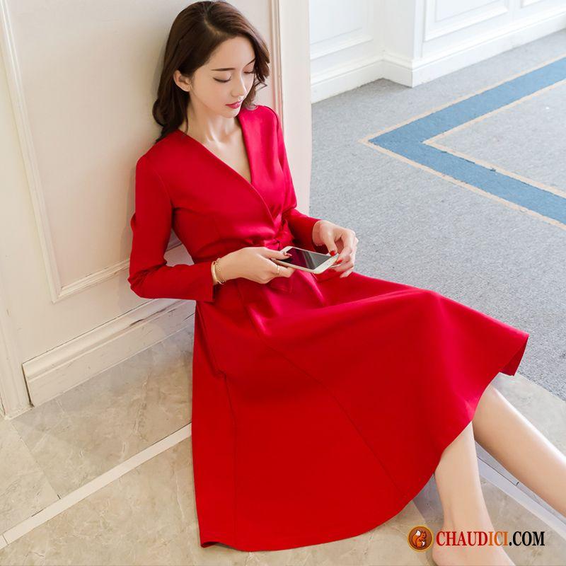 robe de cocktail femme dames longues l 39 automne femme printemps pas cher. Black Bedroom Furniture Sets. Home Design Ideas