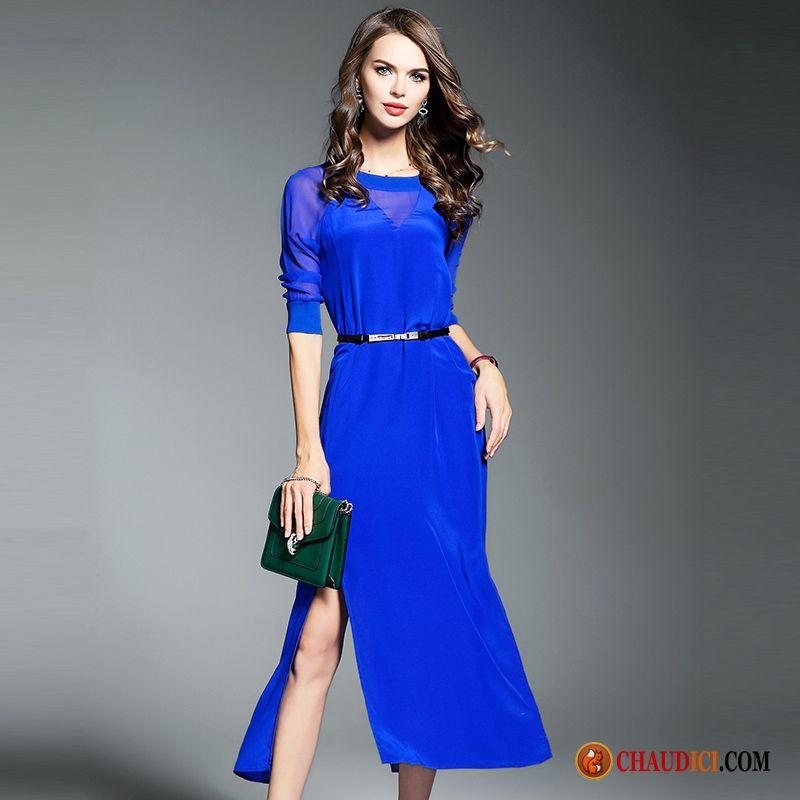 9258918f252 Robe Droite Classique Femme Lilas Été Mode Robe Printemps Tempérament