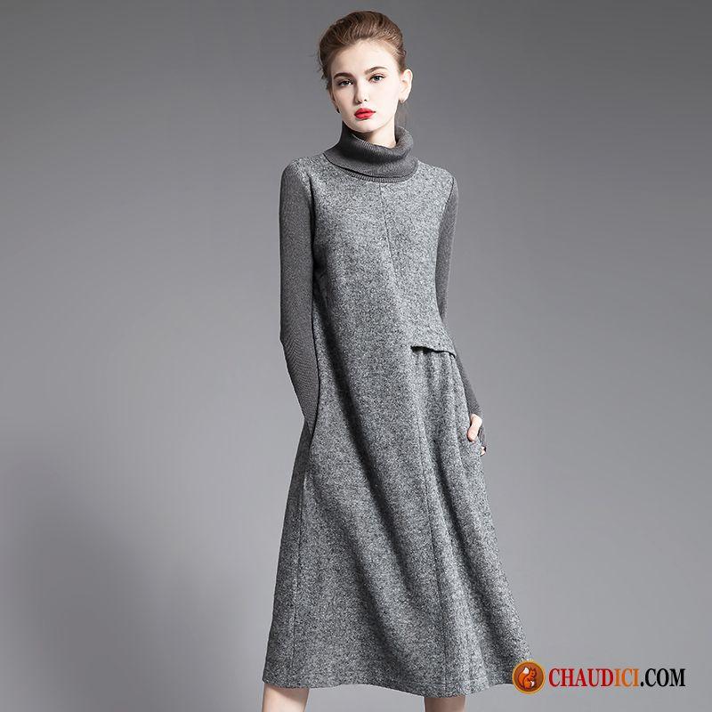 Classique L'automne Épaissir Slim Ligne Longue Mince Robe En 0Pk8wOnX
