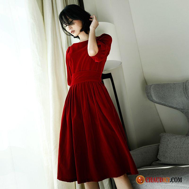 8d7d1922c1b Robe Longue Marque Pérou Grande Marque Velours Robe Beauté Or