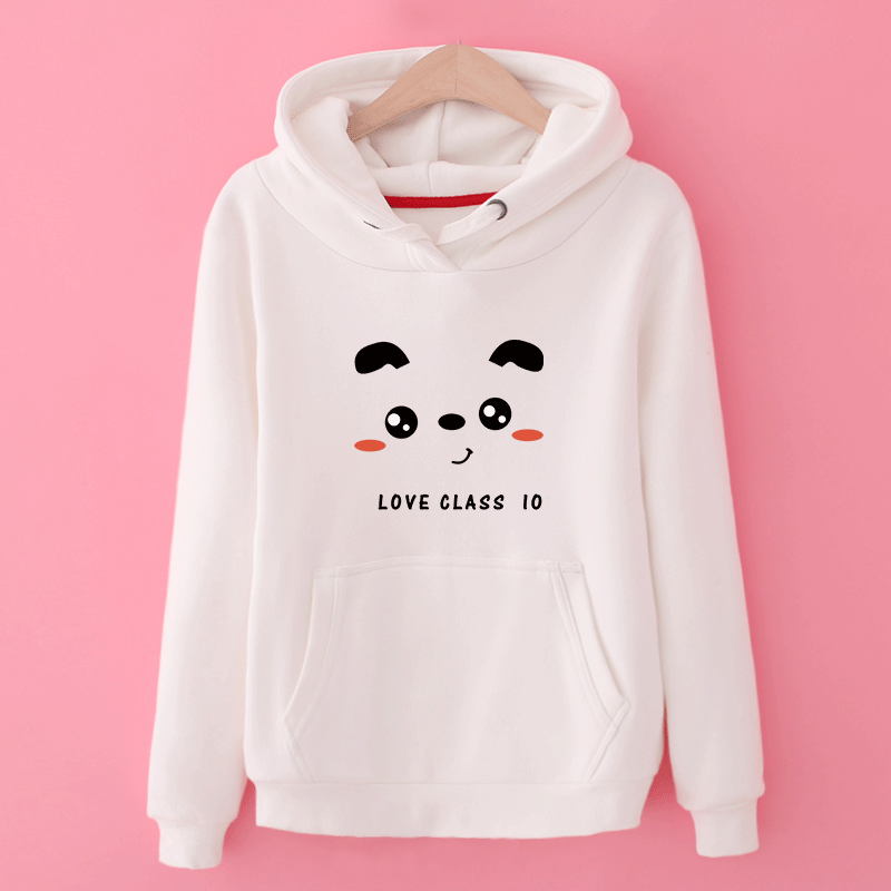 Sweat À Capuche Chaud Femme Étudiant Capuche Manteau Hoodies Fille France