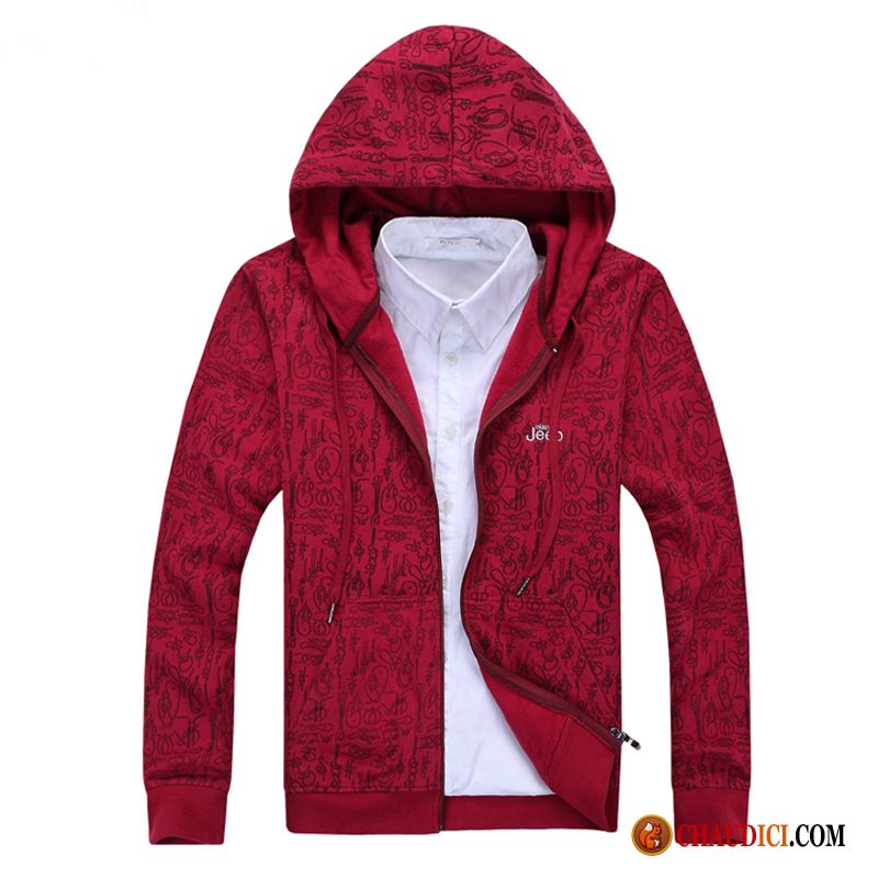 Sweat À Capuche Homme Grand Col Cardigan Capuche Hoodies Printemps Sport En Ligne