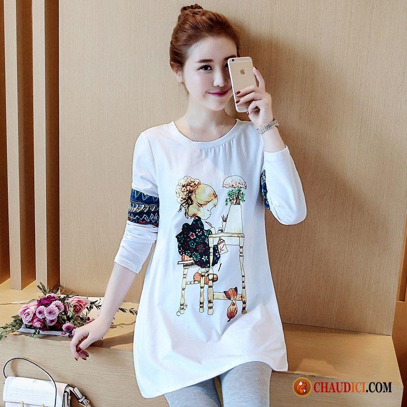 Une Homme Impression Femme Épissure Veste Shirt Tee Fashion Longues HEZanXxOq