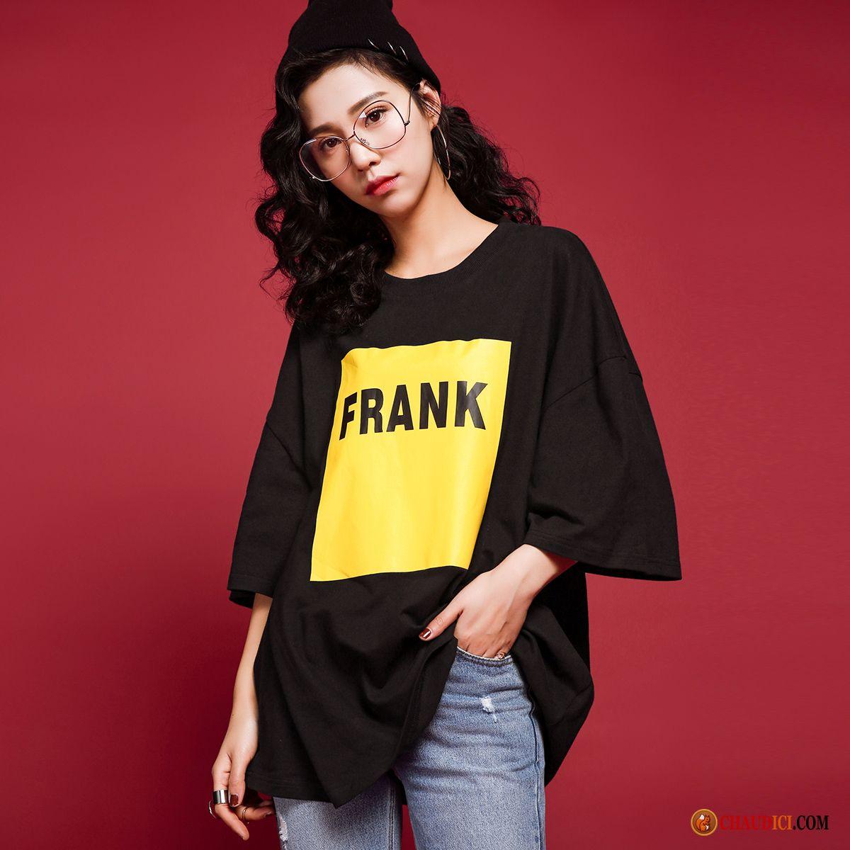 b7700eae3a0c7 Tee Shirt Femme Classe Neige T-shirt Femme Col Rond Printemps Manche En  Ligne