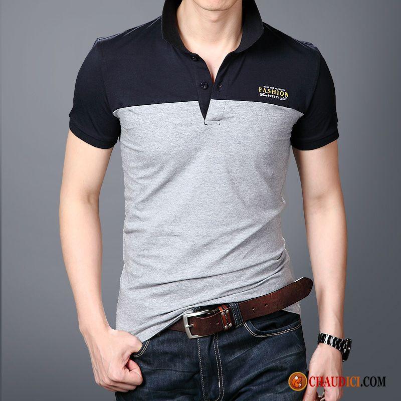 Cravate Roulé Polo Pas Tee Homme Tunisien Revers Shirt Cher Slim 0OPk8nw
