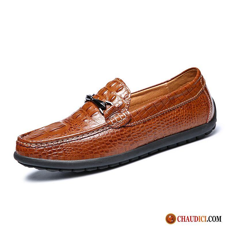 33feeda4a75 Vente Chaussure Homme Dessus Cuir Flâneurs Crocodile Homme Cuir Pas Cher