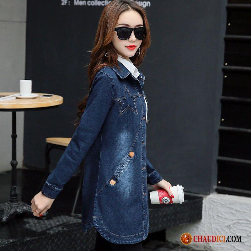 Veste en jeans courte femme pas cher
