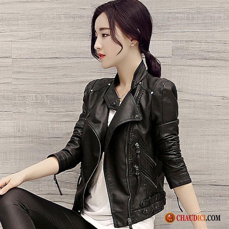 Veste en cuir femme tendance