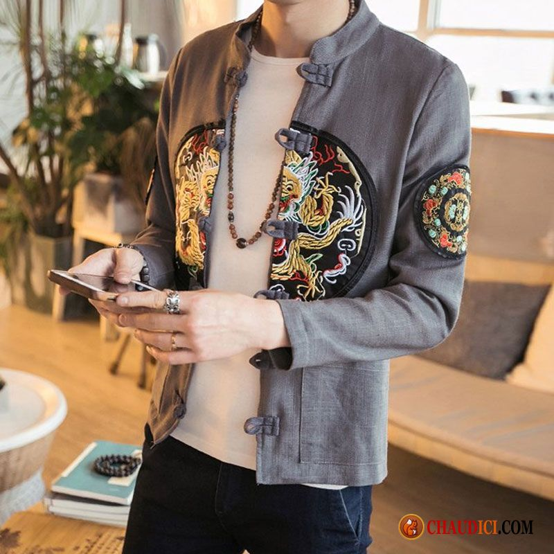 veste homme printemps manteau style chinois homme. Black Bedroom Furniture Sets. Home Design Ideas