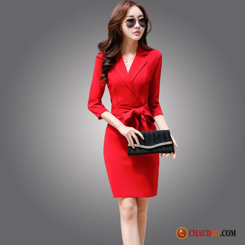 f8fdd624af1 Vetement Femme Robe Longue Professionnel Robe Tempérament Printemps Femme